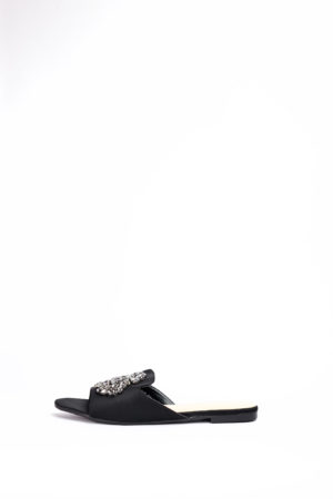 (2 FOR 17K)WAGCHIC DETAIL BOYFRIEND SLIPPERS - BLACK